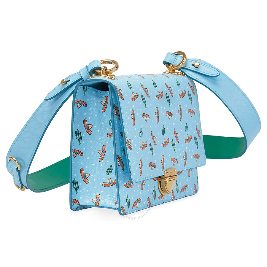 1c01f4f0bfb7c2 Prada Medium Saffiano Leather Crossbody Bag - Light Blue - Prada ...