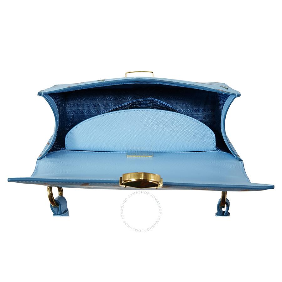 f4d8b375c9ed Prada Medium Saffiano Leather Crossbody Bag - Light Blue - Prada ...