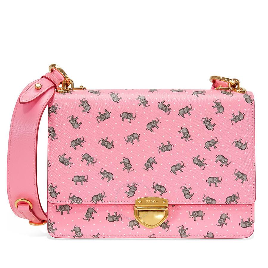 9398b152c9e5 Prada Medium Saffiano Leather Crossbody Bag - Pink Item No.  1BD057TCO2EG5-F0028
