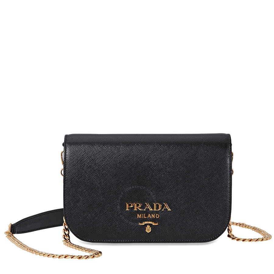 5ab30033d47a Prada Medium Saffiano Leather Crossbody Bag- Black Item No.  1BP013 F0002 NZV V COO