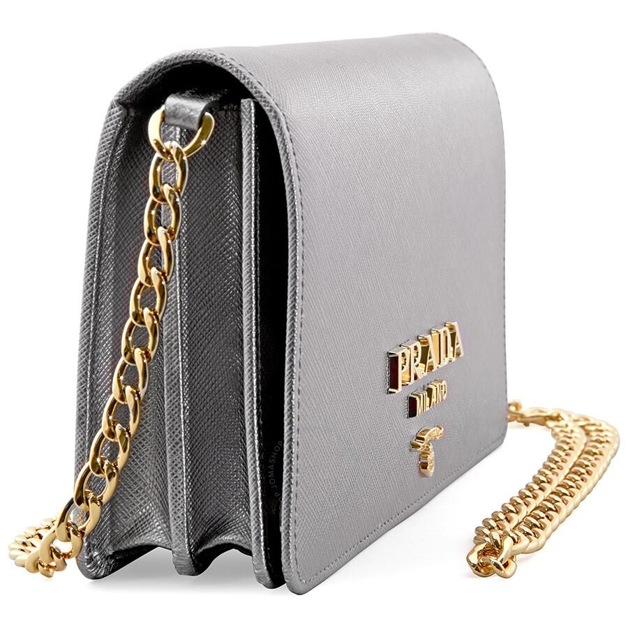 afc2e7bf2472 Prada Medium Shoulder Bag - Chrome - Prada - Handbags - Jomashop