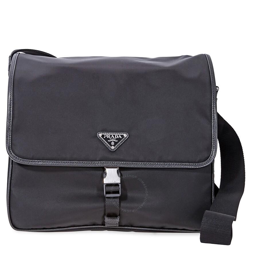 b9748c0c704 Prada Men's Messenger Bag- Black - Prada - Handbags - Jomashop
