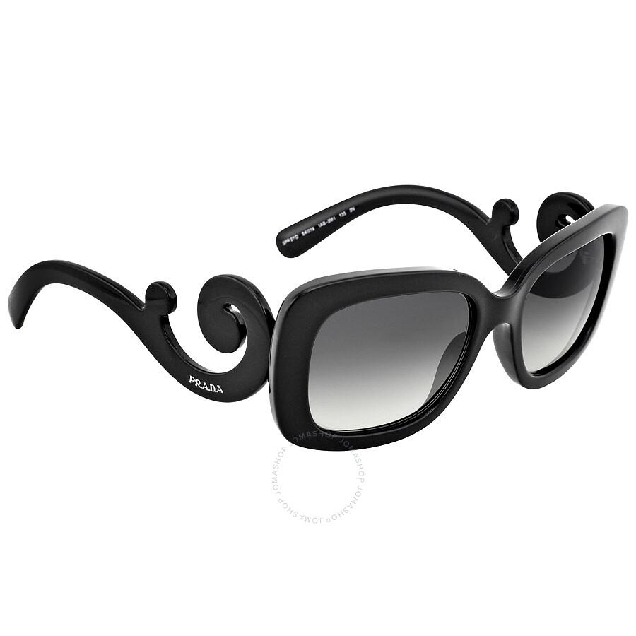 Prada Minimal Baroque Black Sunglasses PR 27OS-1AB3M1-54 ...