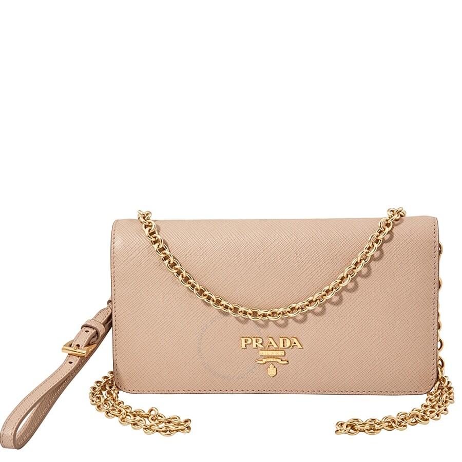 84672d91c77e92 Prada Monochrome Mini Bag- Powder Pink - Prada - Handbags - Jomashop