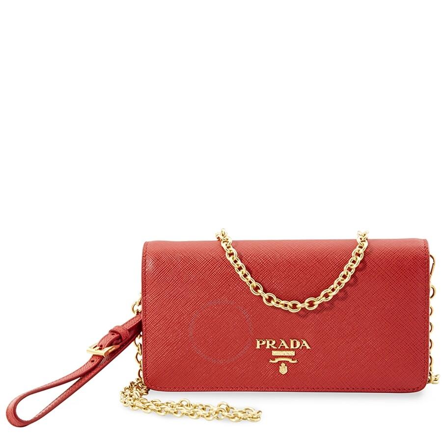 56657b322aedfe Prada Monochrome Mini Bag- Red - Prada - Handbags - Jomashop