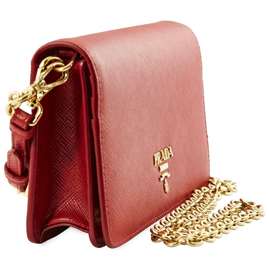 18322023a18c Prada Monochrome Mini Bag- Red - Prada - Handbags - Jomashop