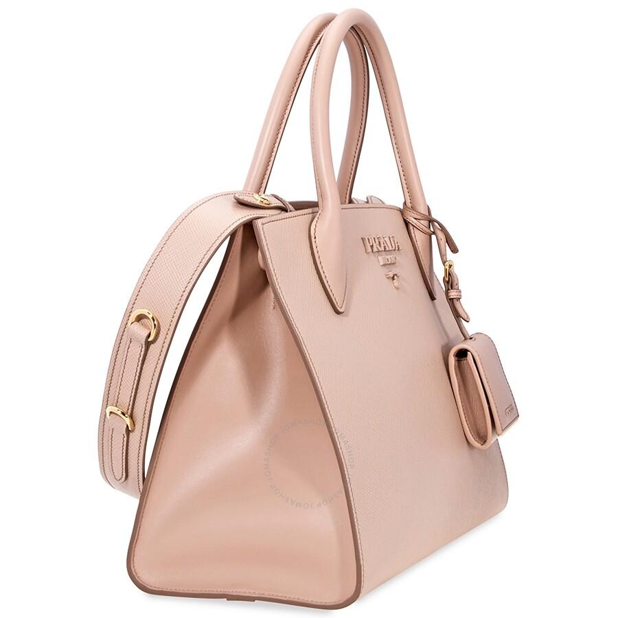 cf5bbfe1beaa Prada Monochrome Tote- Powder Pink - Prada - Handbags - Jomashop