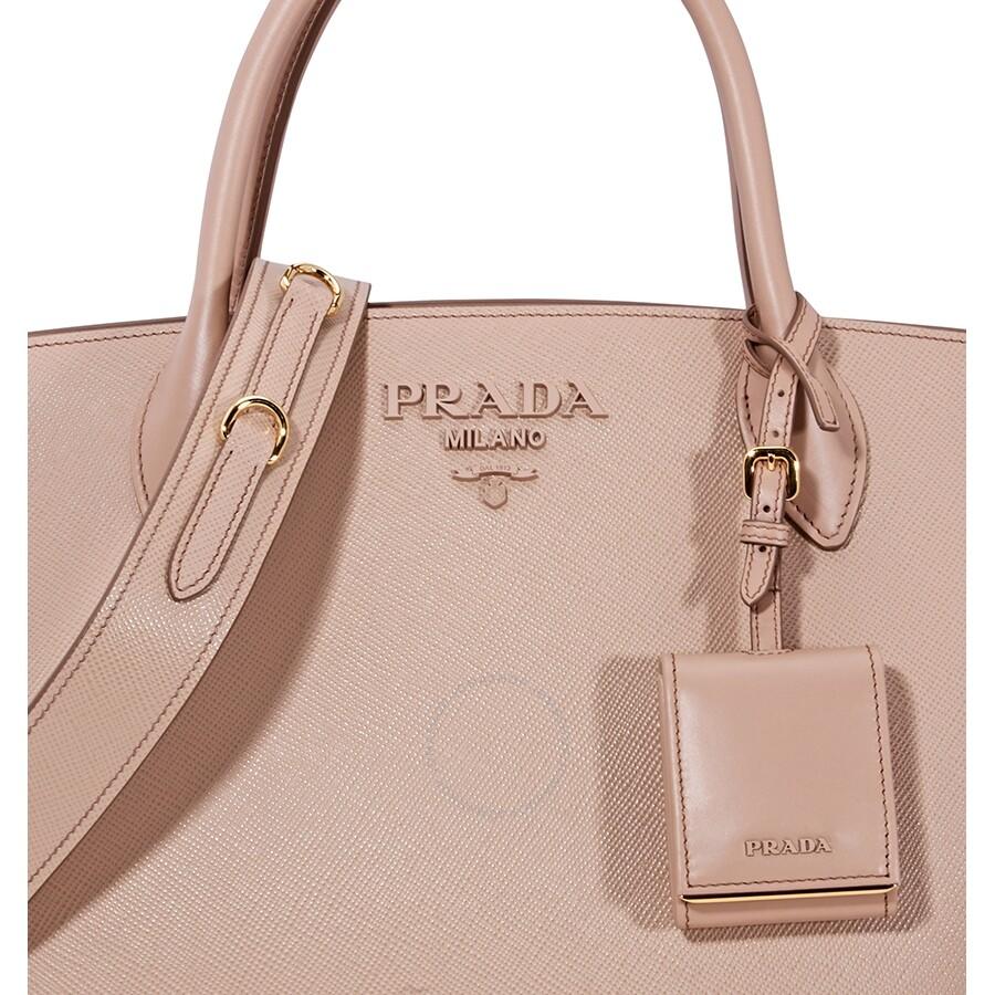 fdbb40b53ca9 Prada Monochrome Tote- Powder Pink - Prada - Handbags - Jomashop