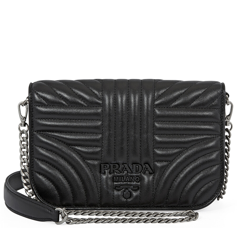 44f2284cea8 Prada Nappa Leather Shoulder Bag- Black Item No. 1BP013_F0XD9_2B0X_V_COI