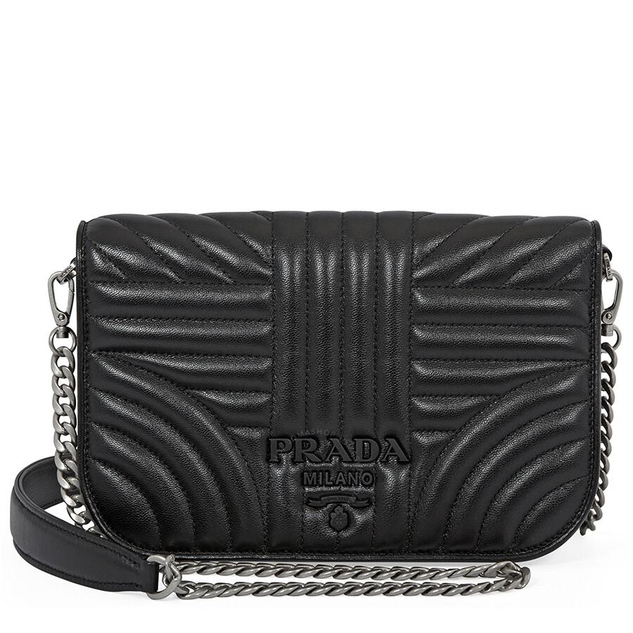 2dd87ed37d40 Prada Nappa Leather Shoulder Bag- Black Item No. 1BP013 F0XD9 2B0X V COI