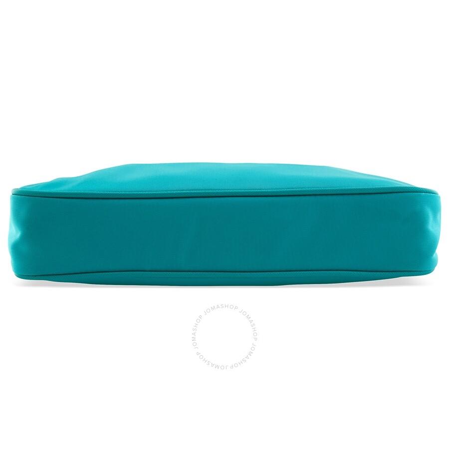 ab50fc3001cc9 Prada Nylon   Saffiano Leather Crossbody Bag- Turquoise - Prada ...