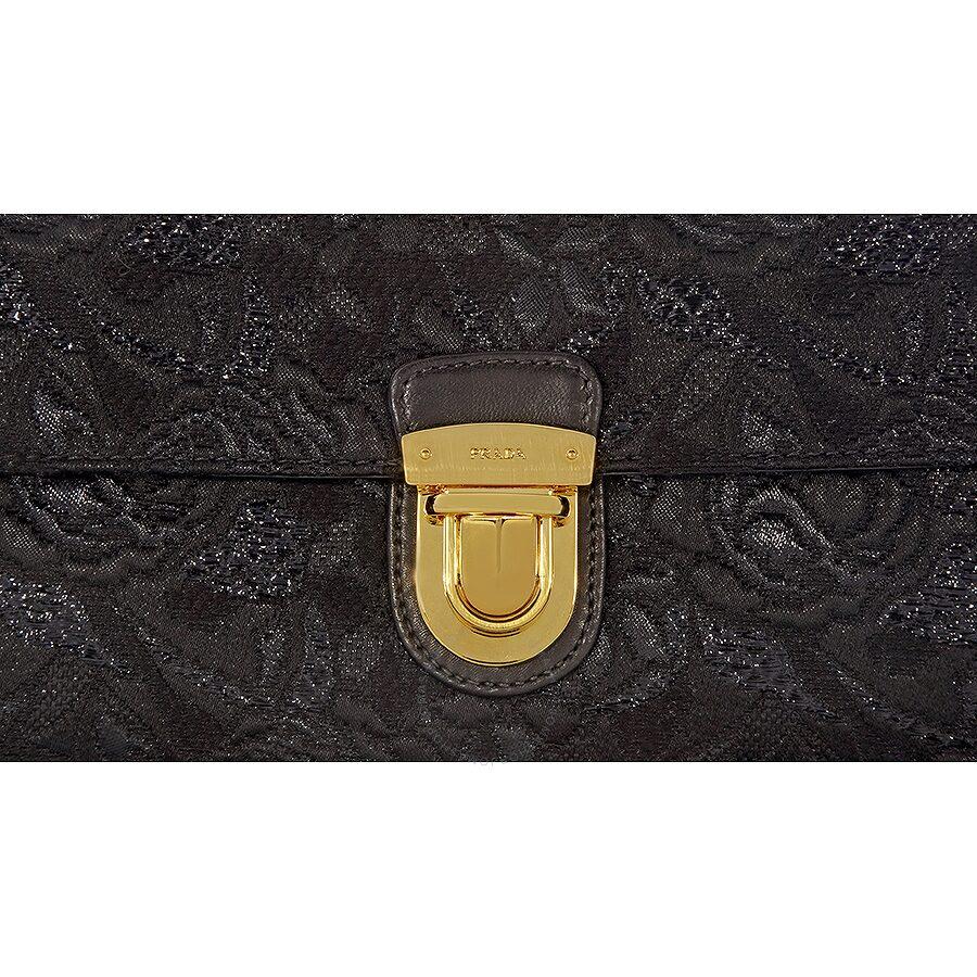 Prada Nylon and Leather Shoulder Bag - Black - Prada - Handbags ... 2420121d25
