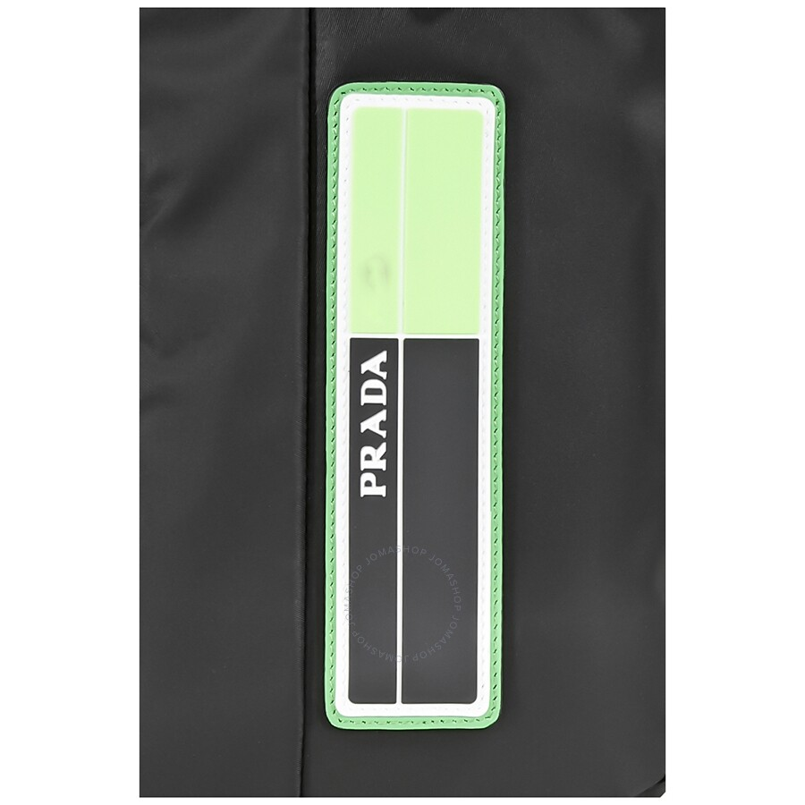 12651dff7a59 Prada Nylon Backpack- Black Fluo Green - Prada - Handbags - Jomashop