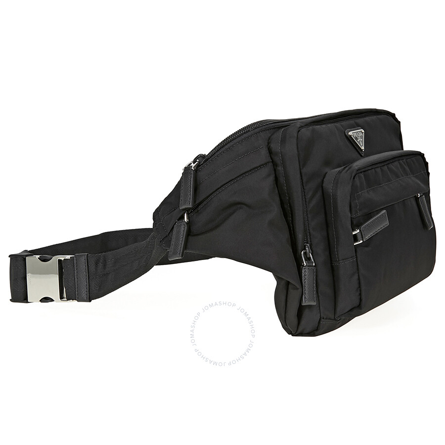 b30266c85905 Prada Nylon Belt Bag- Black - Jomashop