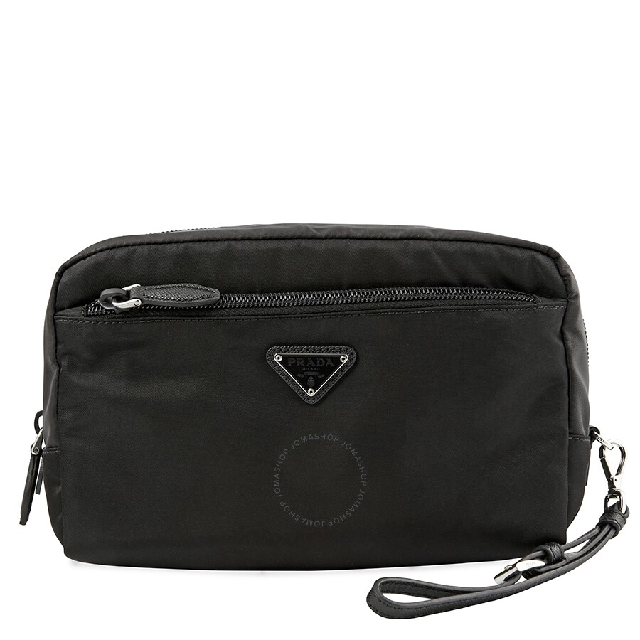 e25f6b09e79f0e Prada Nylon Cosmetic Case- Black - Prada - Handbags - Jomashop