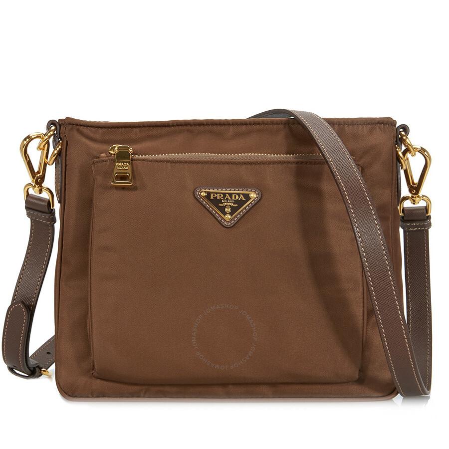 14684ef1f Prada Nylon Crossbody Bag - Corinth - Prada - Handbags - Jomashop