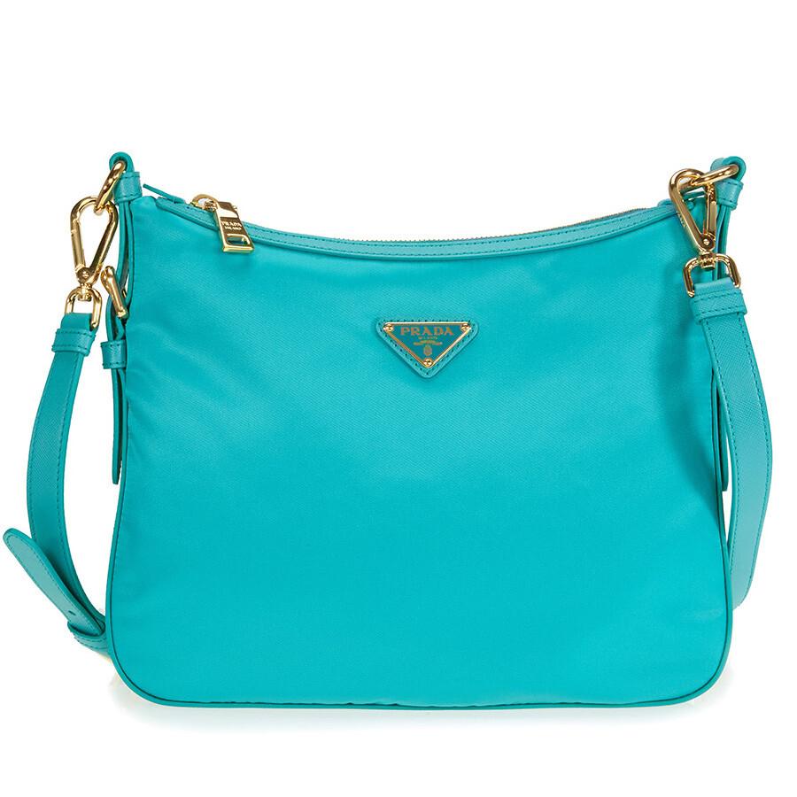 da2801640 Prada Nylon Crossbody Bag - Turquoise - Prada - Handbags - Jomashop
