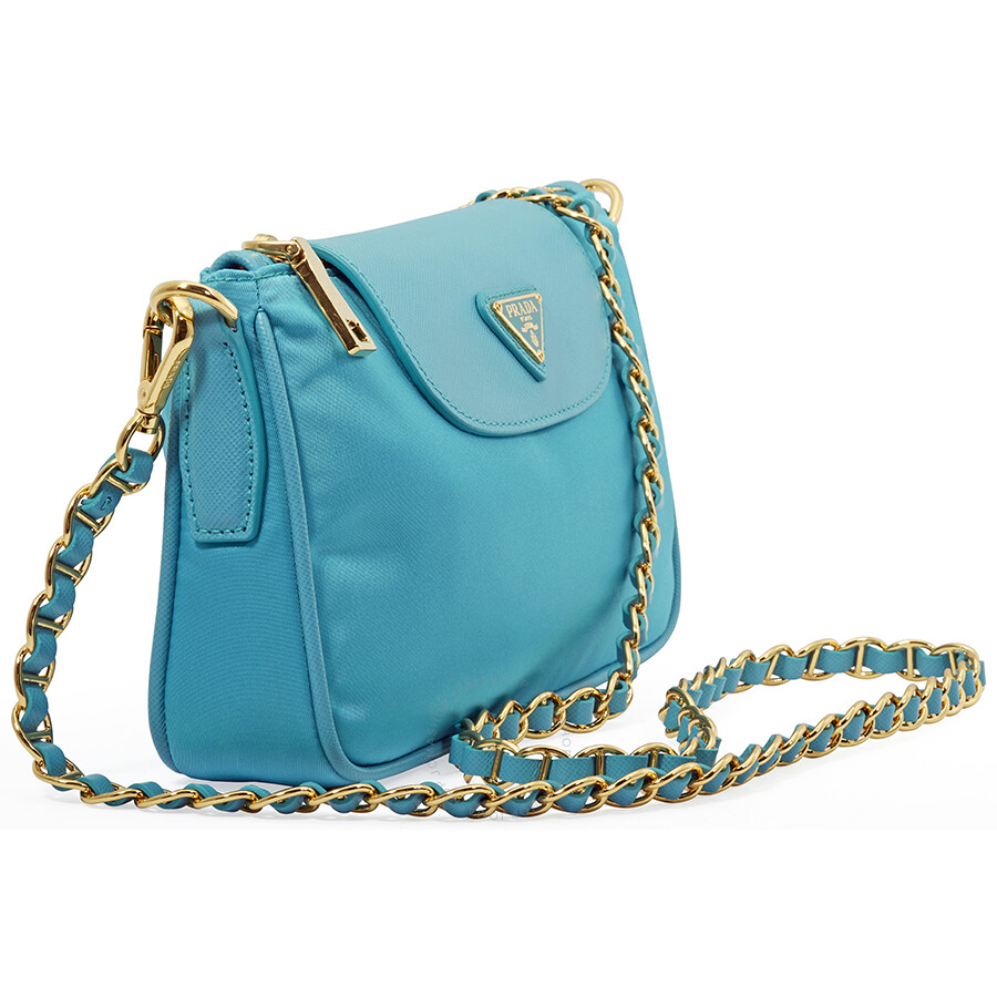 b0a995e90b Prada Nylon Crossbody Bag- Turquoise - Prada - Handbags - Jomashop