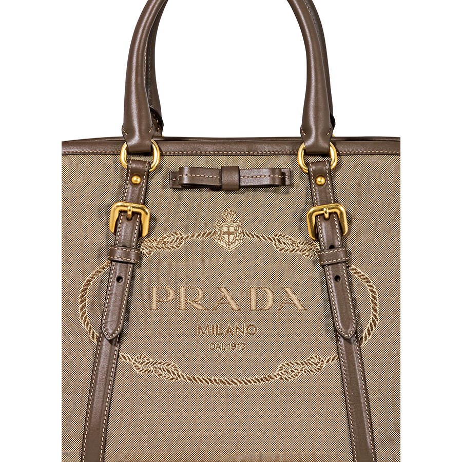 6c821878fa Prada Nylon Logo Tote- Brown - Prada - Handbags - Jomashop