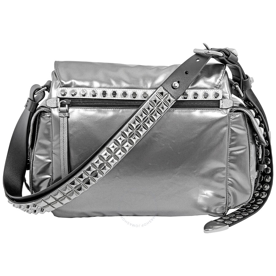 Prada Nylon Medium Crossbody Bag- Iron Grey - Prada - Handbags ... a67d4f31b6962