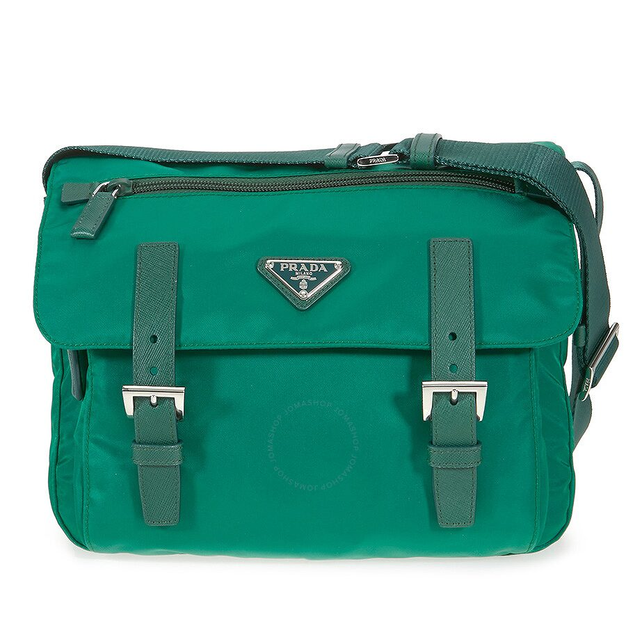b45a3cb32289 Prada Nylon Messenger Bag - Oleander - Prada - Handbags - Jomashop