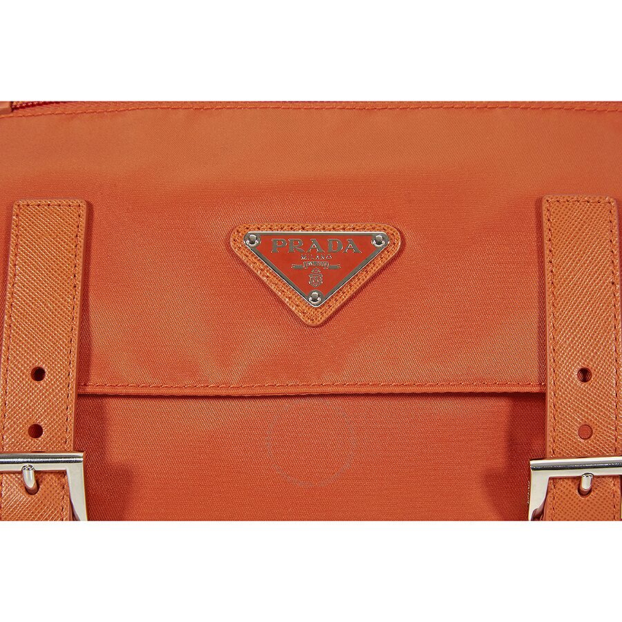 c7f07acb3635 Prada Nylon Messenger Bag - Papaya - Prada - Handbags - Jomashop