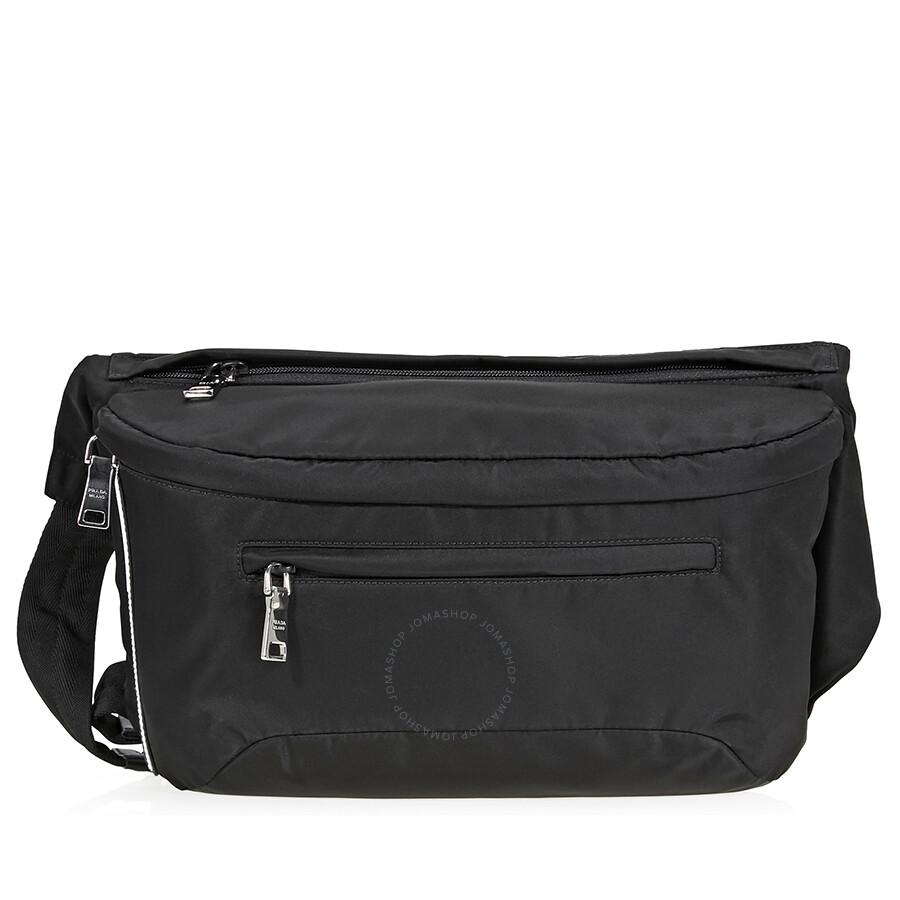 aca5b0be62 Prada Nylon Messenger Bag- Black - Prada - Handbags - Jomashop