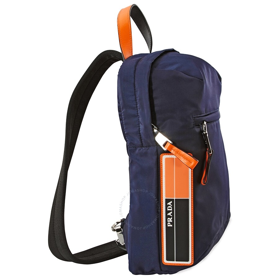 16e7acacd87b Prada Nylon One-Shoulder Backpack- Blue Fluo Orange - Prada ...
