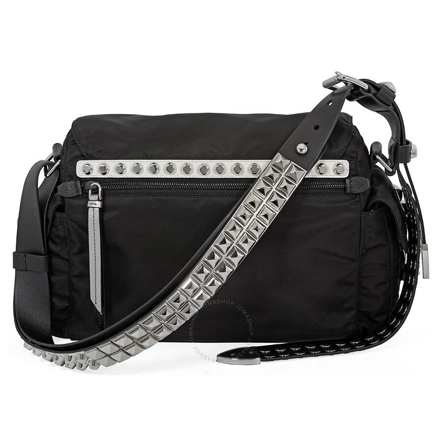 80651a269b43 Prada Nylon Shoulder Bag- Black Item No. 1BD118_F0H0S_2BYB_V_TBO