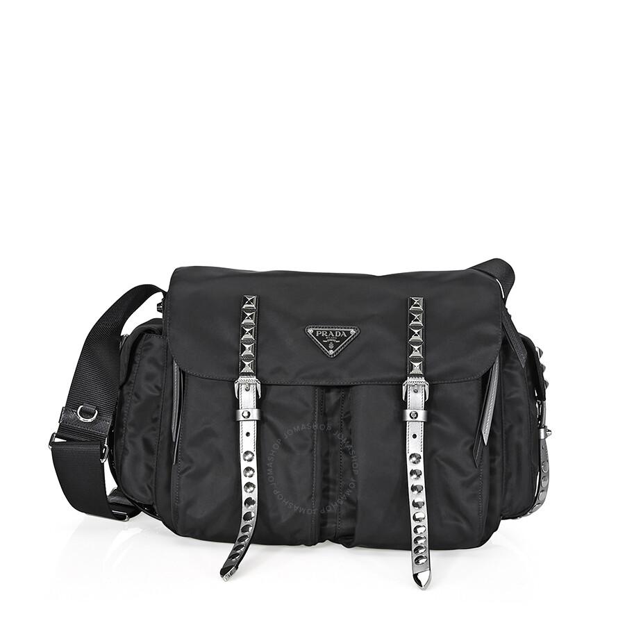f0f2bc3427eb Prada Nylon Shoulder Bag- Black Item No. 1BD119 F0H0S 2BYB OBO