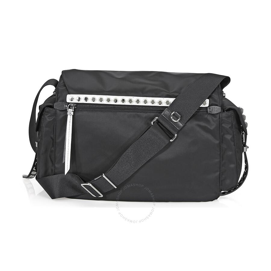 Prada Nylon Shoulder Bag- Black - Prada - Handbags - Jomashop b7da311c75