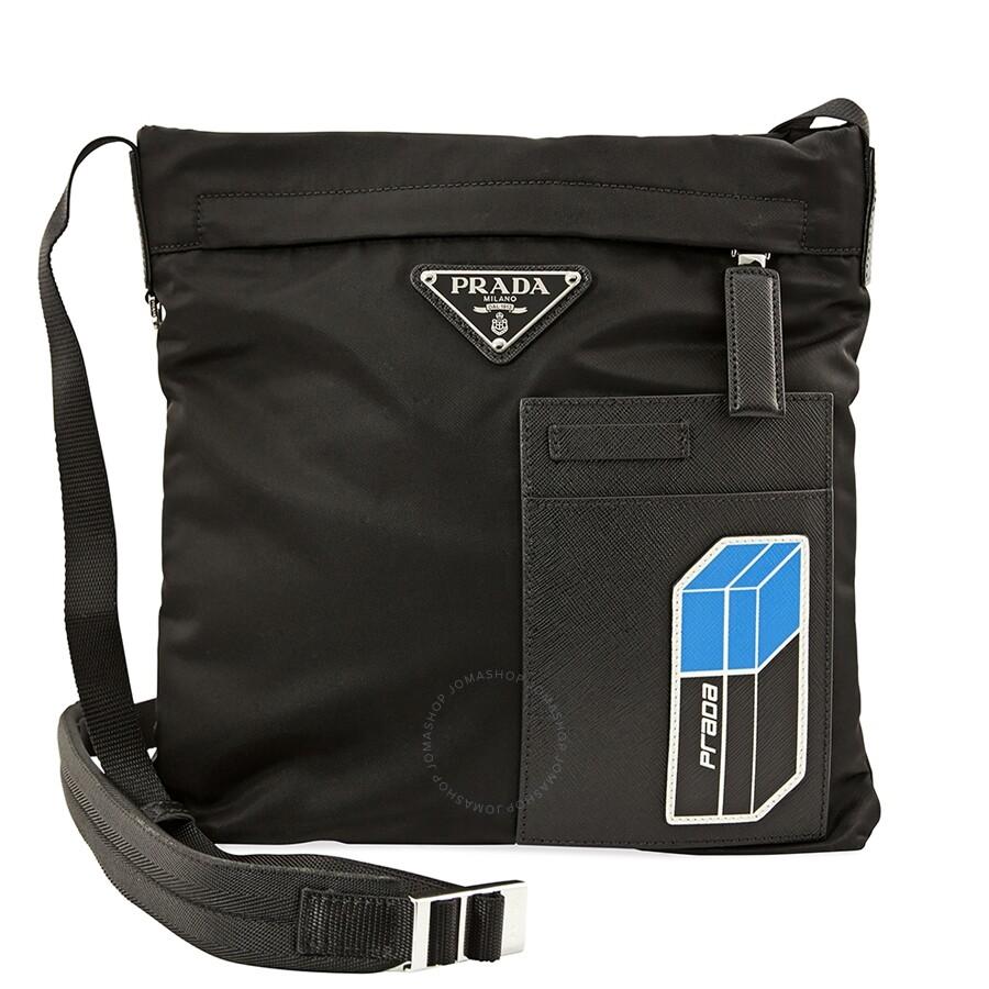 8e626f9a05 Prada Nylon Shoulder Bag- Black - Prada - Handbags - Jomashop