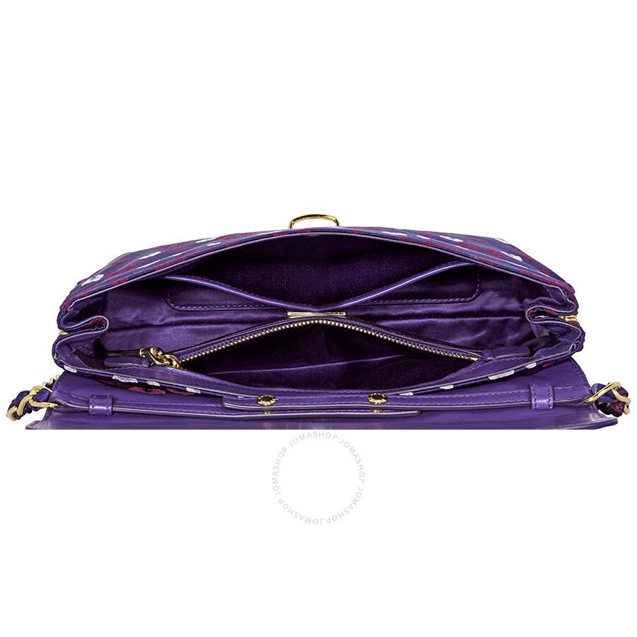 aee03cb59be1 Prada Nylon Shoulder Bag- Dark Violet - Prada - Handbags - Jomashop