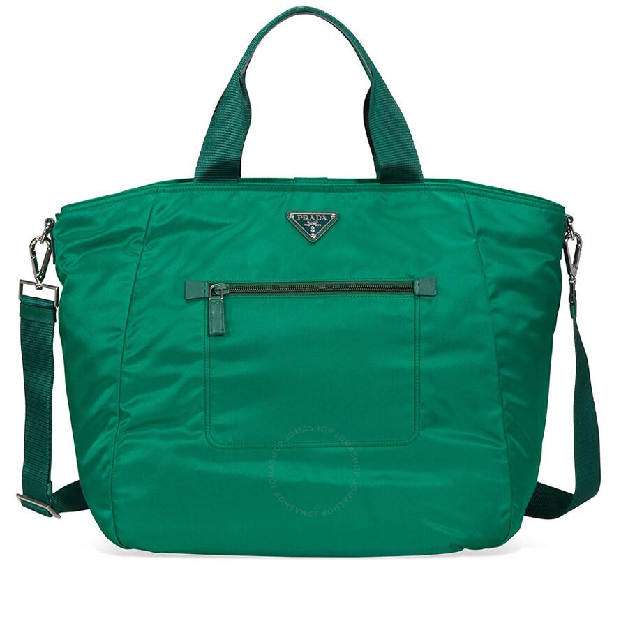 28ef732e8c Prada Nylon Tote Bag - Oleandro - Prada - Handbags - Jomashop