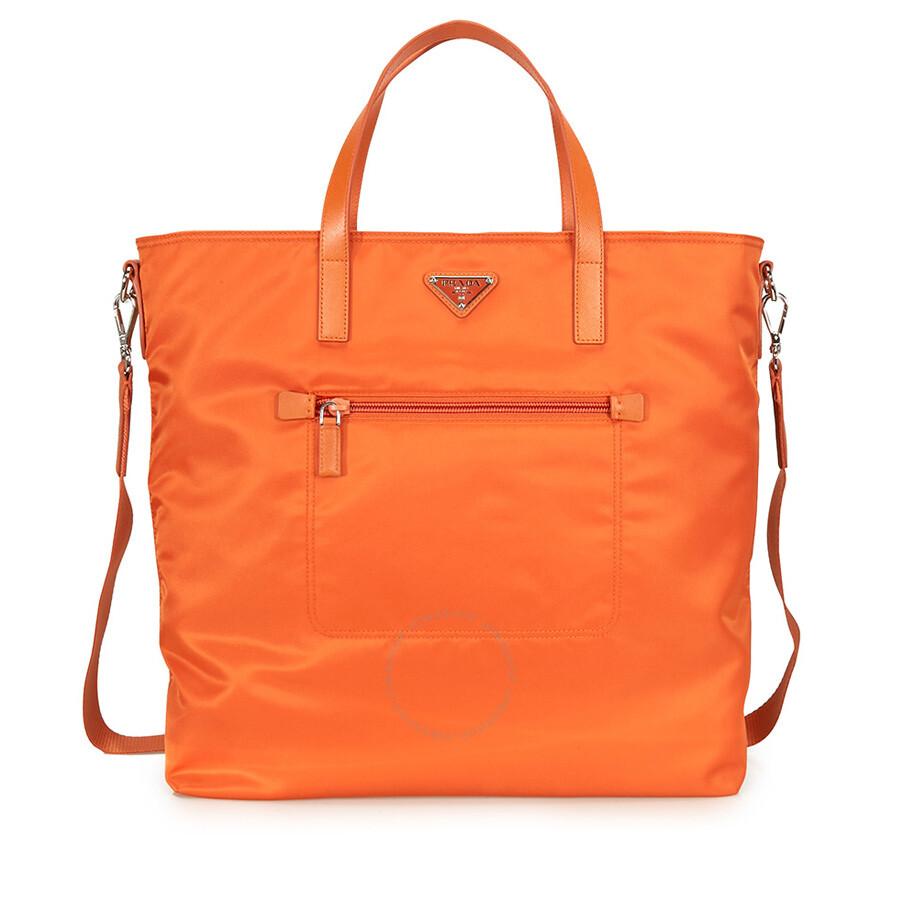 bd82f1d83db7 Prada Nylon Tote Bag - Orange - Prada - Handbags - Jomashop