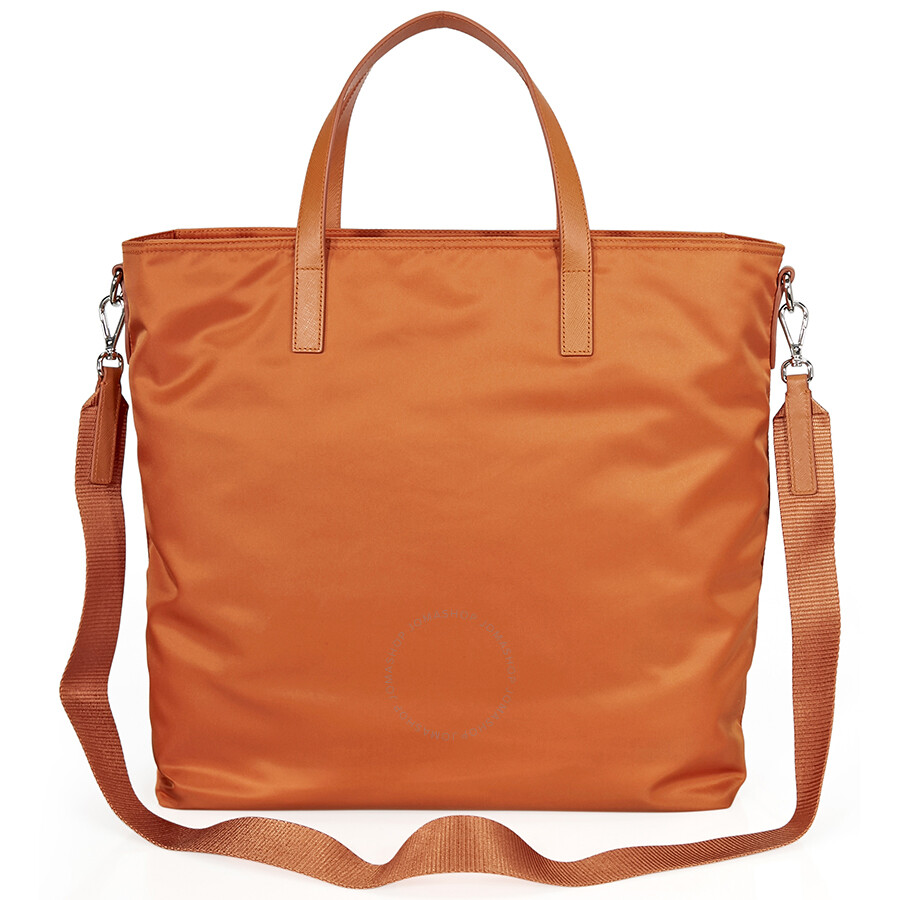 99685ebf9412 Prada Nylon Tote Bag - Orange - Prada - Handbags - Jomashop
