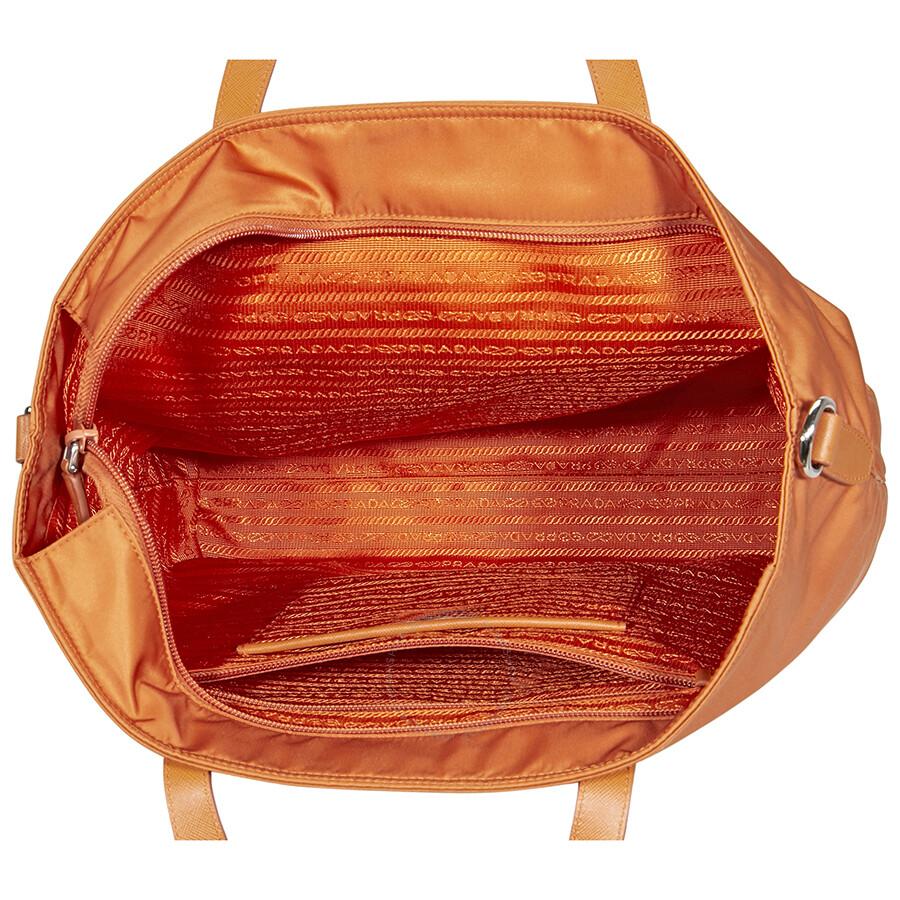 Prada Nylon Tote Bag - Orange - Prada - Handbags - Jomashop 09b8d8bdab