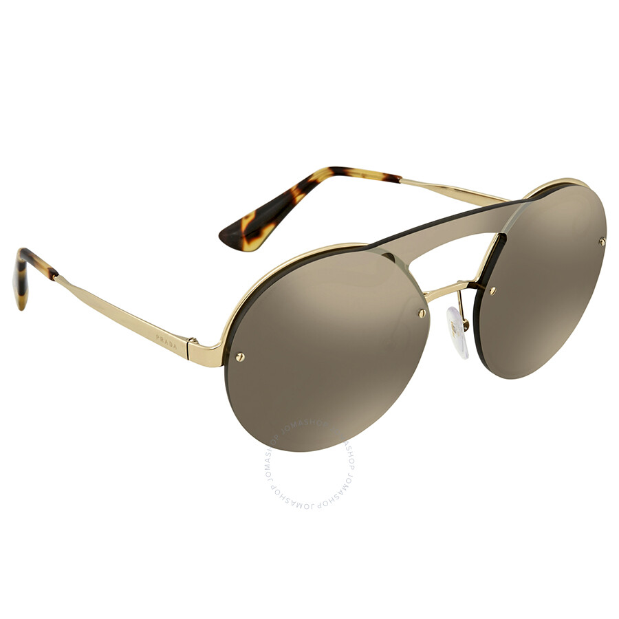 a7485cd894 Prada Pale Gold Ladies Sunglasses PR 65TS ZVNODW 36 - Prada ...
