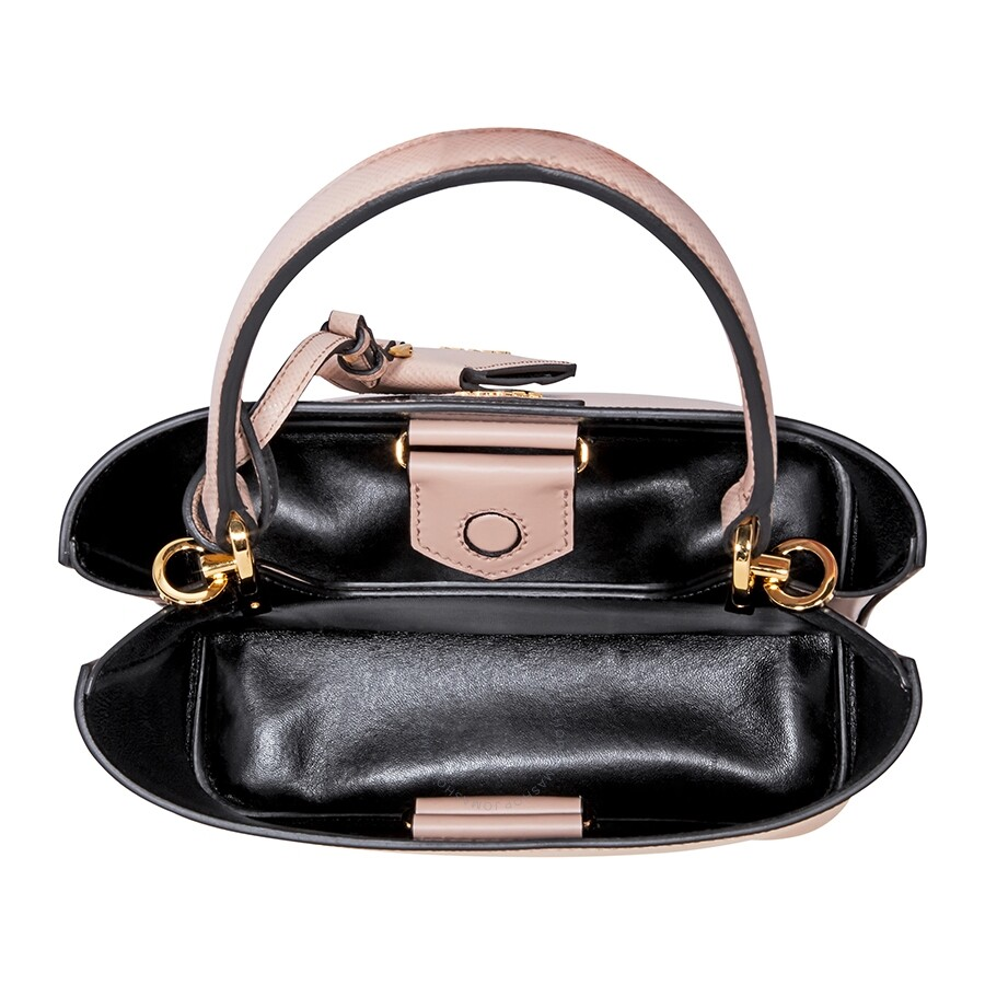 e7cca1f1a98c Prada Panier Medium Bag- Powder Pink Black - Prada - Handbags - Jomashop
