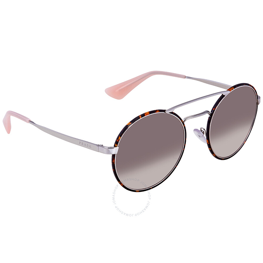 e2d8fe4a99cd Prada Pink Gradient Grey Round Ladies Sunglasses PR 51SS 2AU4K0 54 ...