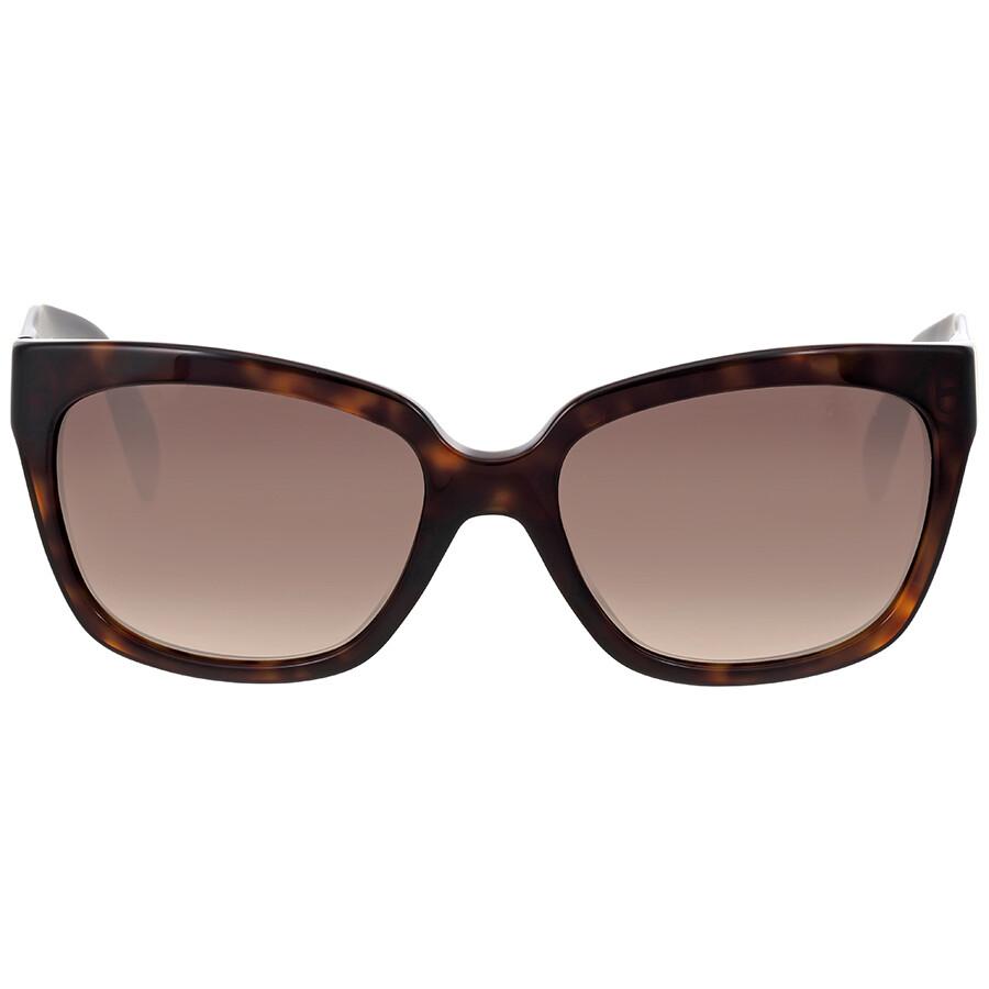 54e019577bea6 Prada Poeme Tortoise Shell Square Sunglasses Item No. PR-07PS-2AU6S1-56