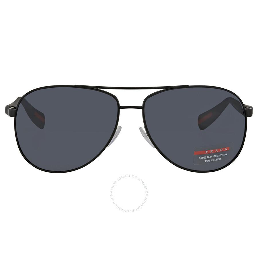 be11d0dd288c5 ... Prada Polarized Grey Aviator Men s Sunglasses PS51OS-1BO5Z1-62 ...