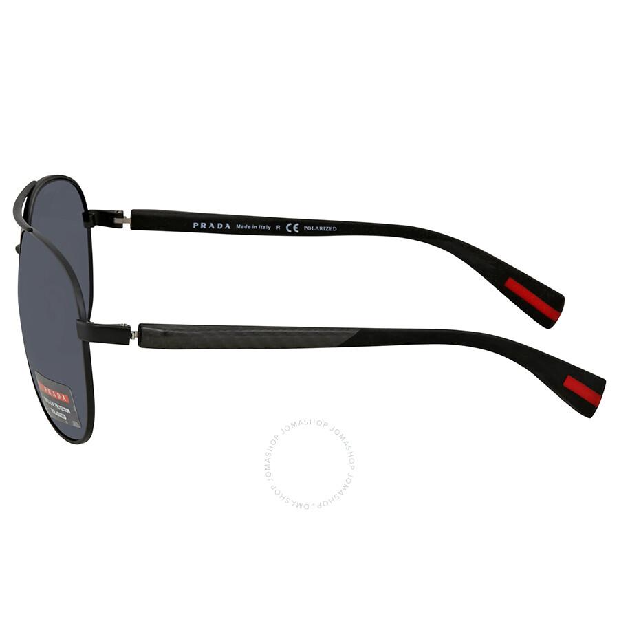 178666e39e9e1 Prada Polarized Grey Aviator Men s Sunglasses PS51OS-1BO5Z1-62 ...