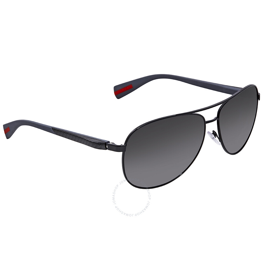 97c773a2 Prada Polarized Grey Gradient Aviator Men's Sunglasses PS 51OS 7AX5W1 62