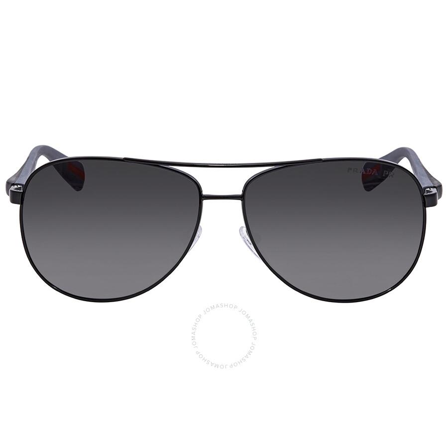 6dd3f087af ... Prada Polarized Grey Gradient Aviator Men s Sunglasses PS 51OS 7AX5W1  62 ...