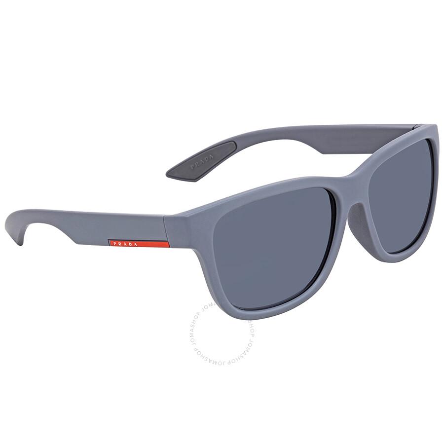a6ac3fc425 Prada Polarized Grey Square Men s Sunglasses PS03QSF-UFK5Z1-59 ...