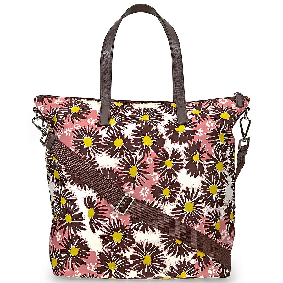 c07d790d94a5 Prada Printed Nylon Tote - Bordeaux Margherita - Prada - Handbags ...