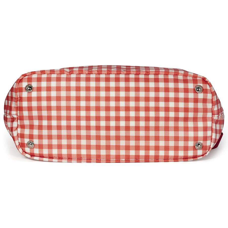 62cac139961 Prada Printed Nylon Tote - Rosso Vichy - Prada - Handbags - Jomashop