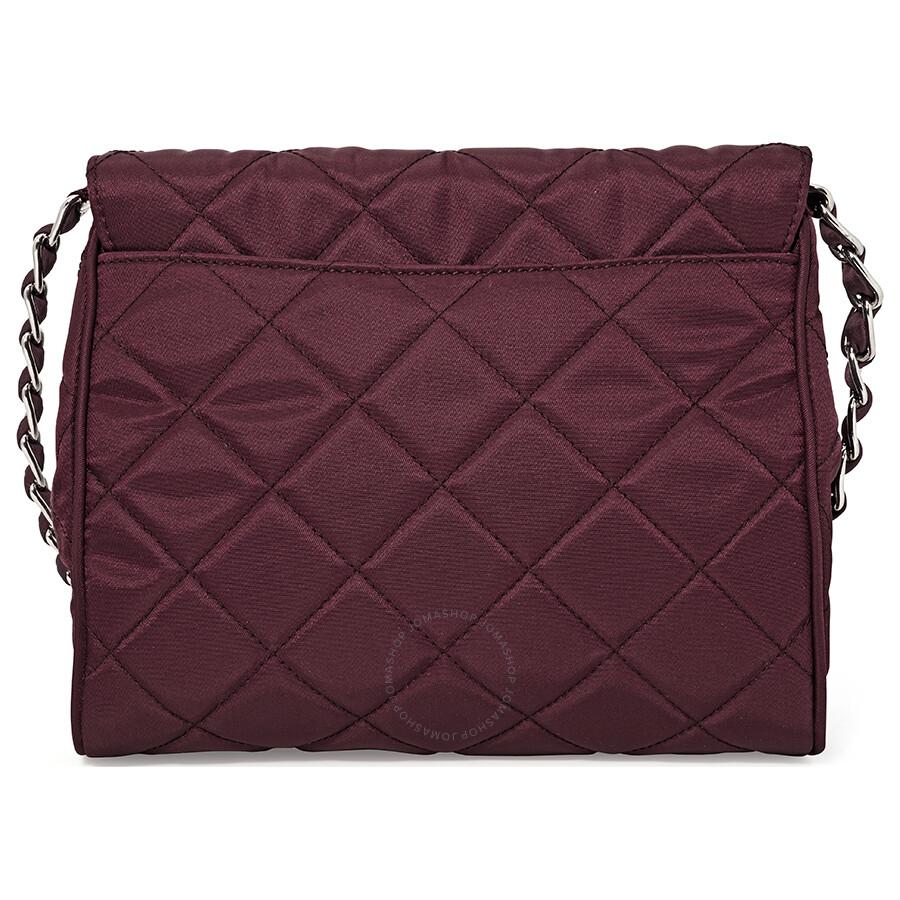 b7a1a80a7e8d48 Prada Quilted Shoulder Bag - Garnet | Stanford Center for ...