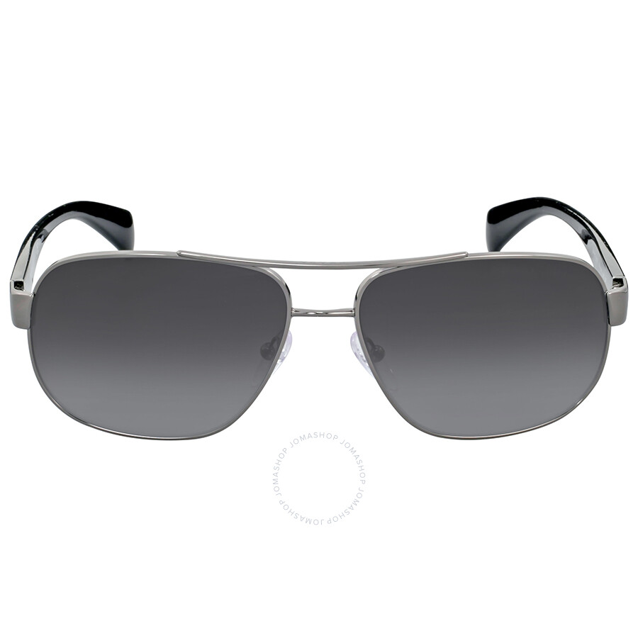 bc062fce7dd Prada Rectangle Aviator Grey Gradient Polarized Men s Sunglasses Item No.  0PR 52PS5AV5W161